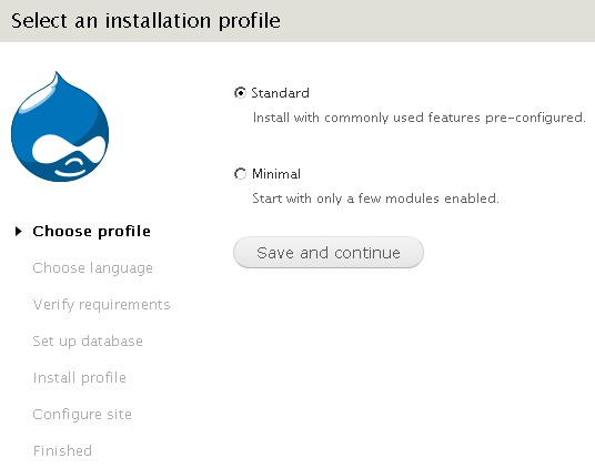 Default installation profile