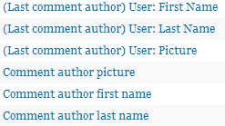 Comment Author Settings