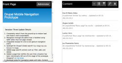 Drupal 8 Mobile Navigation Prototype