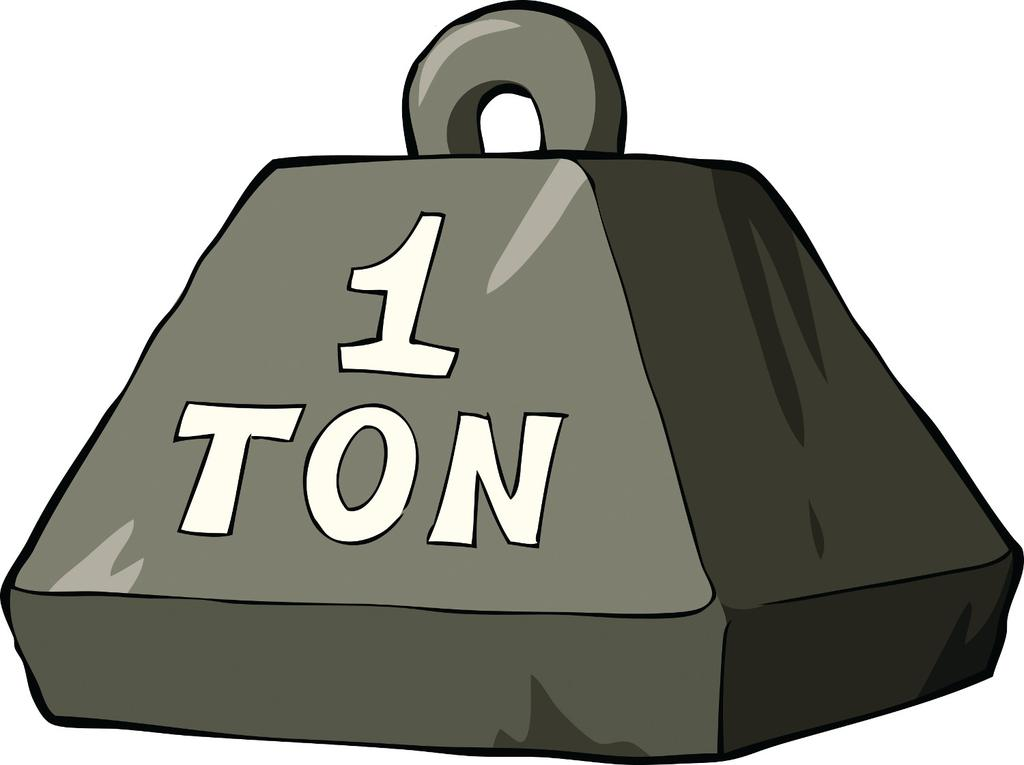 one ton is